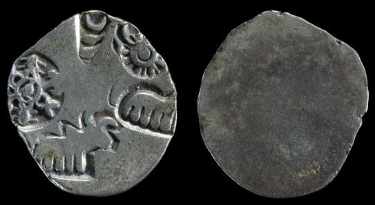 Silver karshapana, or dharana, of the Mauryan Empire
